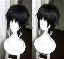 Bungo Streunende Hunde Ryuunosuke Ryunosuke Akutagawa Perücken Schwarz Weiß Hitzebeständig Syntehtic Haar Cosplay Perücke