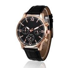 guys watch 2017 MALE TOP HOT SALE relogio Retro Design Leather Band Analog Alloy Quartz Wrist Watch quartz wristwatch p30