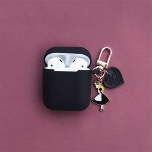 Image 5 - סופר חמוד בנות מפתח טבעת עבור אפל Airpods מקרה אלחוטי Bluetooth אוזניות מקרה סיליקון אוזניות מגן כיסוי אנטי אבוד
