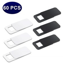 60PC Ultra Thin WebCam Cover Shutter Magnet Slider Plastic Universal Camera Cover For Phone Macbook Laptops Lens Privacy Sticker(China)