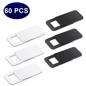 60PC Ultra Thin WebCam Cover Shutter Magnet Slider Plastic Universal Camera Cover For Phone Macbook Laptops Lens Privacy Sticker image