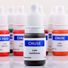 CHUSE  C294 Permanent Makeup Tattoo Ink Pigment Micro Pigment Color for Eyebrow & Eyebrow Shaded Cosmetic Dark Brown   lips