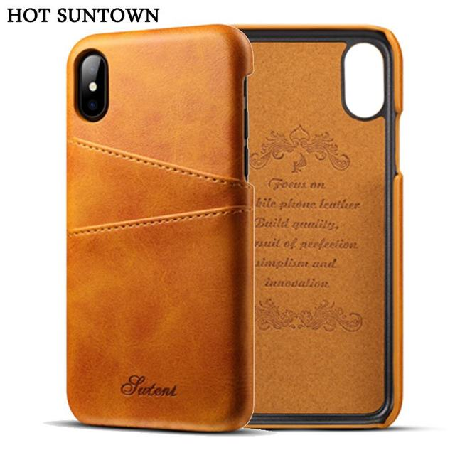 coque iphone x apple leather