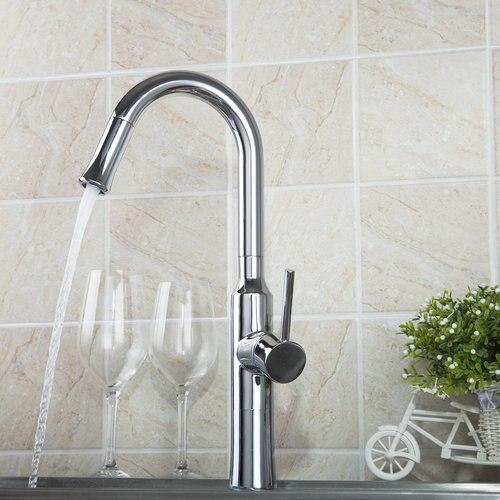 Kitchen Torneira 97054 Solid Brass Kitchen Sink Faucet Deck Mount Spray Swivel Spout Bathroom