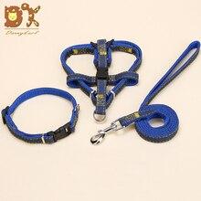 DannyKarl Pet Leash Cowboy Chest Strap Dog Collar Set Nylon Supplies Factory Outlet Basic Leashes Spring/Autumn