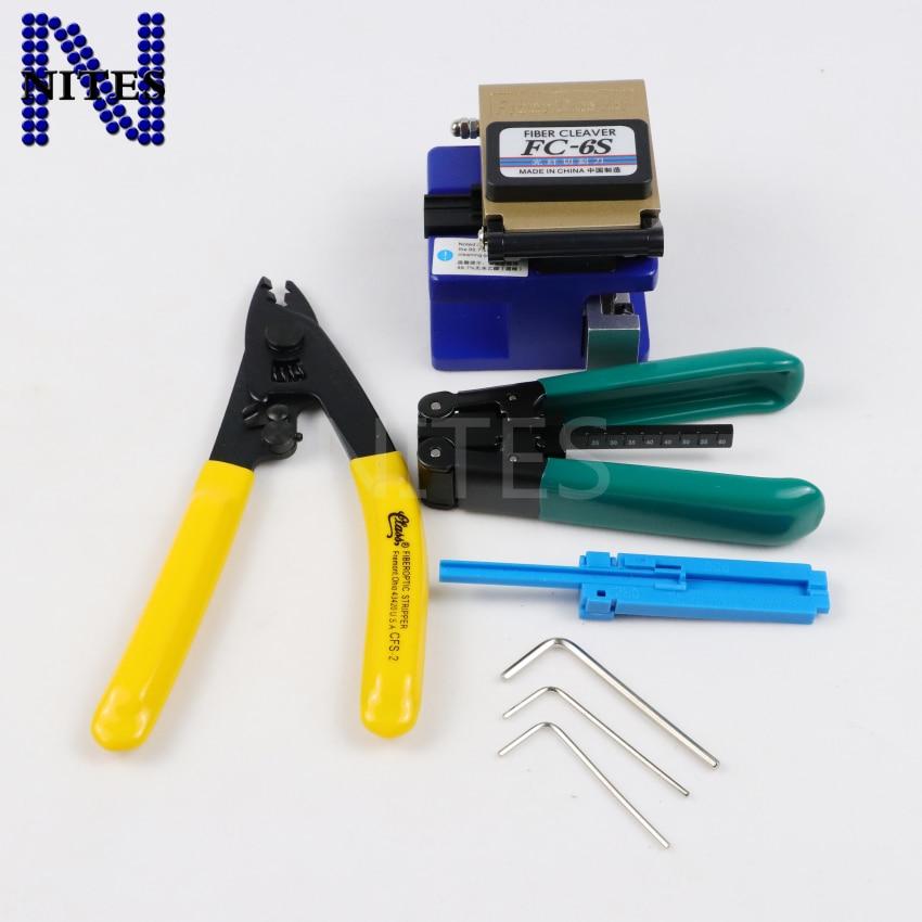 FTTH FC-6S 2 Allen Wrench bag CFS-2  CPFB01 Optical Fiber Cleaver tool ki/_vi