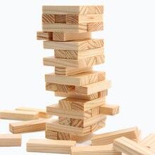 Мини 48 шт./компл. Малый Размеры головоломки Jenga Настольная игра Семья/вечерние best подарок для детей забавная игра строительных блоков
