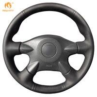 Black Leather Steering Wheel Cover For Nissan Almera N16 Pathfinder Primera Paladin