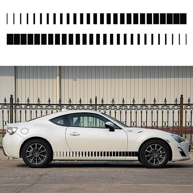 2x tapered stripe one for each side vinyl decal hood door window car sticker