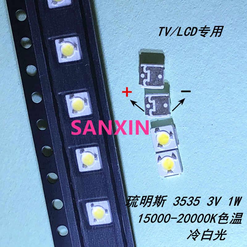 500 piezas de lúmenes originales LED retroiluminación Flip-Chip LED 2,4 W 3V 3535 blanco frío 153LM para SAMSUNG LCD LED retroiluminación TV aplicación 3D
