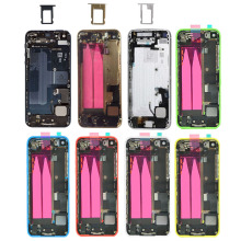 For Apple iPhone 5 5s 5C Full Housing Back Battery Cover Back Door Case with buttons New High Quality