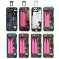 Para apple iphone 5 5s 5c vivienda completa cubierta volver batería back door case con botones de nuevo de alta calidad
