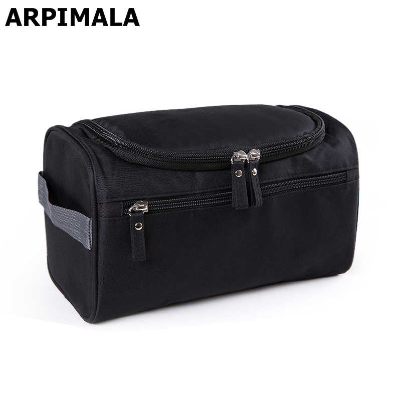 ARPIMALA Waterdichte Mannen Cosmetische Tas Opknoping Up Tas Nylon Travel Organizer Grote Benodigdheden Make Up Case Wash Toilettas
