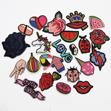 10pcs small  Embroidered Applique Iron On Patch design DIY Sew Badge