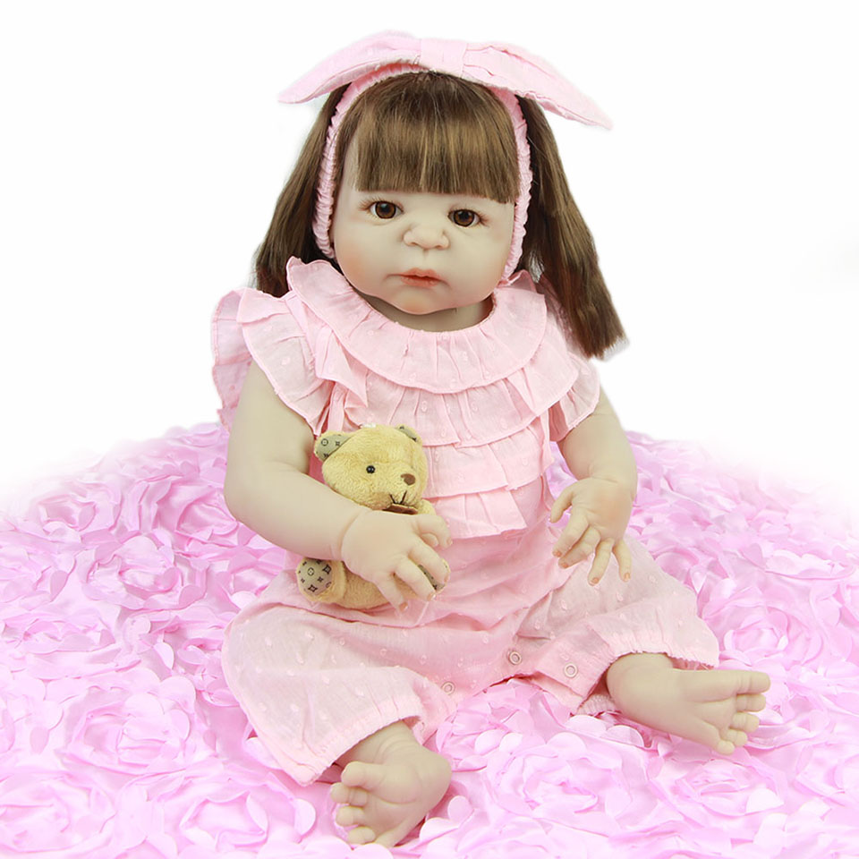 KEIUMI Simulation 23'' Princess Reborn Baby Dolls Toy Realistic Truly New Born Babies Doll Full Vinyl Body For Girl Playmates truly 20 reborn baby dolls full body silicone vinyl realistic simulation girl and boy twins babies dolls fashion kids playmate