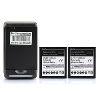 2x 2800mAh Replacement Phone Li Ion Battery Bateria For Samsung Galaxy SIV S4 I9500 Cell Phone
