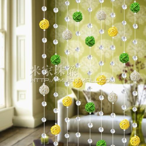 Haute qualit verre cristal rustique sepak takraw rideau de cristal multicolore perles de rideau - Tringle rideau porte d entree ...