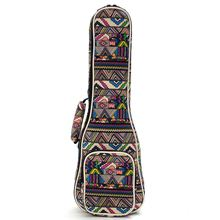 """21 """"23"""" 26 """"Ukulele Instrumento Bolsas Bolsa Con Correa de Hombro Doble Bolsa de Lona Bolsas de Guitarra Ukelele y Cajas Nacionales Viento"""