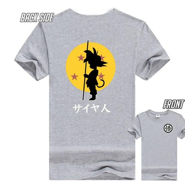 Dragon ball Saiya-jin Goku t shirt dragon ball men's tee shirts various colors ac387