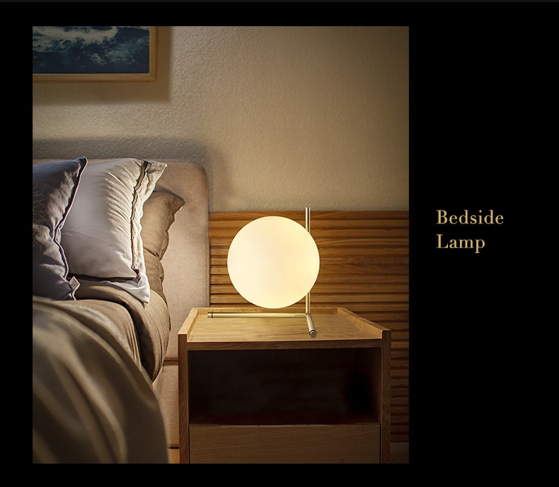 Modern LED Table Lamp Desk Lamp Light Shade Glass Ball Table Lamp Desk Light for Bedroom Living Room Floor Conner Gold Designs (13)