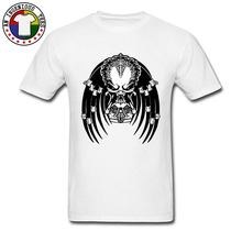 Predator T-shirts 2018 Fashion Korte Mouwen Heren Top T-shirts Zomer O Hals T-shirt Fitness Strakke Slim Fit Sweatshirt Schedel(China)