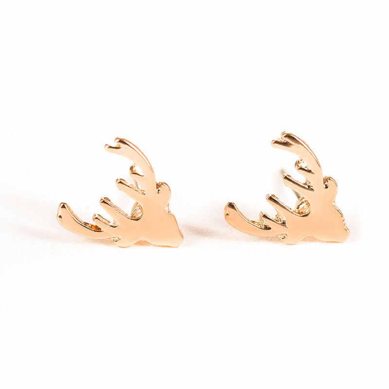 Retro Geweih Deer Ohrring Schmuck Shellhard Horn Ohr Kletterer Crawler Stud Ohrring Für Frauen Körper Schmuck Femme Bijoux