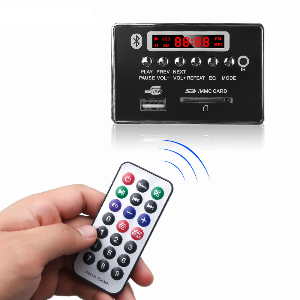 DC 5V Automobile Car Bluetooth MP3 WMA FM Decoder Board Plate Audio Module USB Radio Car MP3 Speaker Accessories