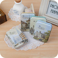 Paris Impression Romantic Style Metal Box Packing Postcards Snacks Coins Strage Box Free Shipping