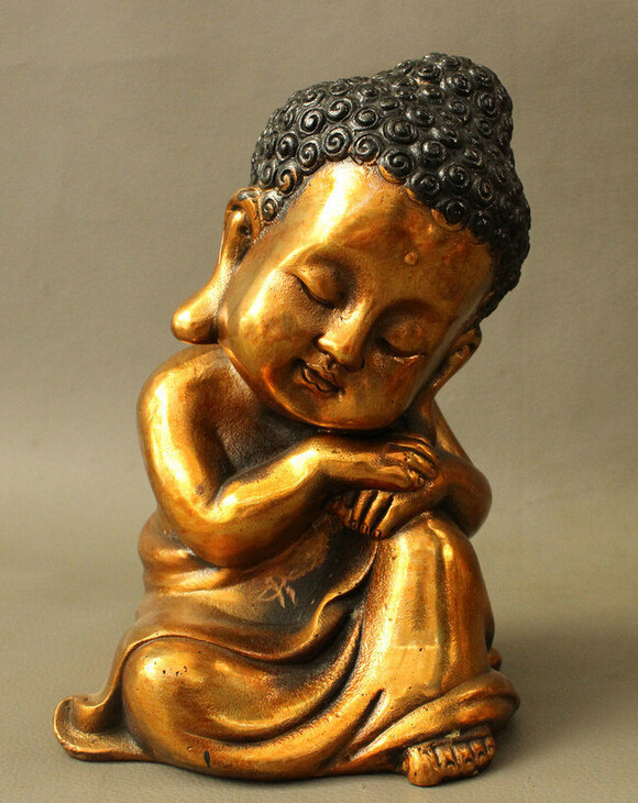 006993 7 Tibet Tibetan Buddhism Bronze Gilt Sleeping Shakyamuni Sakyamuni Buddha Statue
