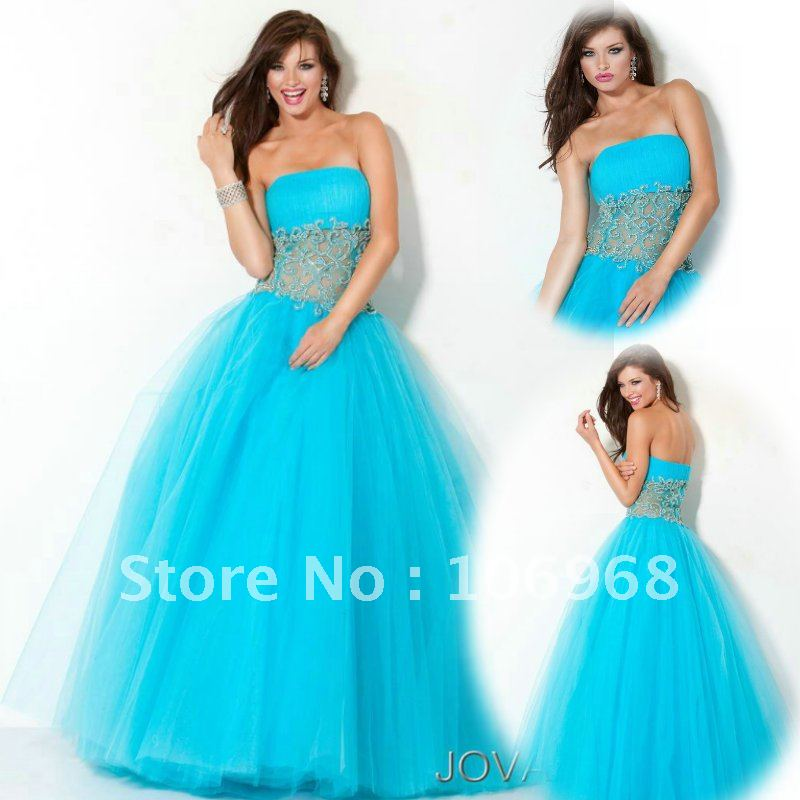 New Look 2012 Blue Quinceanera Dress Ball Gown Free Shipping E091-in ...