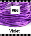 2.5mm 100yds/spool Violet (#66) Rattail Satin Cord Chinese Beading Polyester (similar but not nylon) Cord NCP5