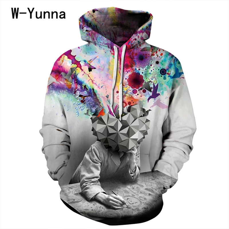 Hot! Creative 3d Print Hoodies Men/women Sweatshirts Fashion New Style Loose Hooded Pullovers Thin Hooded Tops Moleton Feminino
