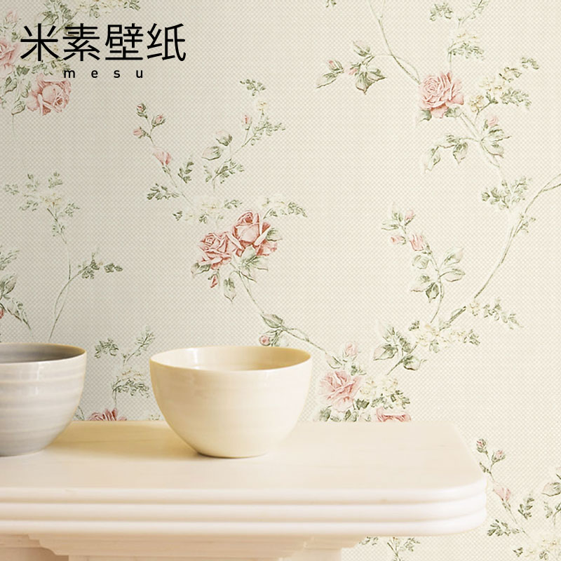 2017 Papel Pintado Papier Peint Photo Wallpaper M In The Pastoral Style Bedroom Non-woven Wall Paper Rose 3d Tv Room Raider the woman in the photo