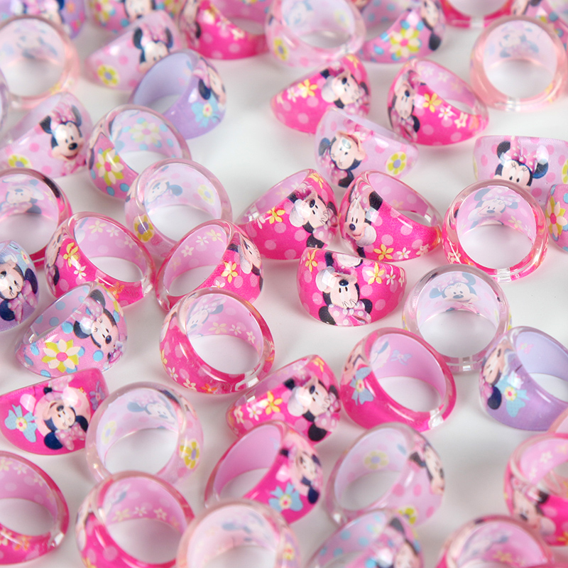 24pcs lot Mouse Rings Party Gifts for Guests Kids Finger Rings Birthday Party Decor Favors Supplies in Party Favors from Home Garden