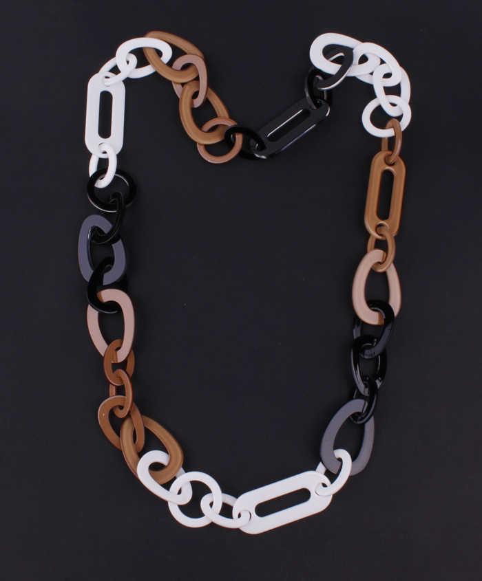 Kalung Resin Link Perhiasan Panjang Kalung 3 Warna Campuran Baru 2016 Fashion Kualitas Plastik Perhiasan NK1070
