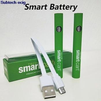 Najnowszy Smart Cart bateria do waporyzatora 510 wkłady gwintowe 380mah podgrzewanie ze zmiennym napięciem baterie Smartcart z ładowarką USB tanie i dobre opinie SUB TWO 18350 NONE 700 mAh CN (pochodzenie) Li-ion 510 Thread 2 4(Green Light)-3 2V(Blue Light)-3 6V(Red Light) Smart Cart Preheating Battery