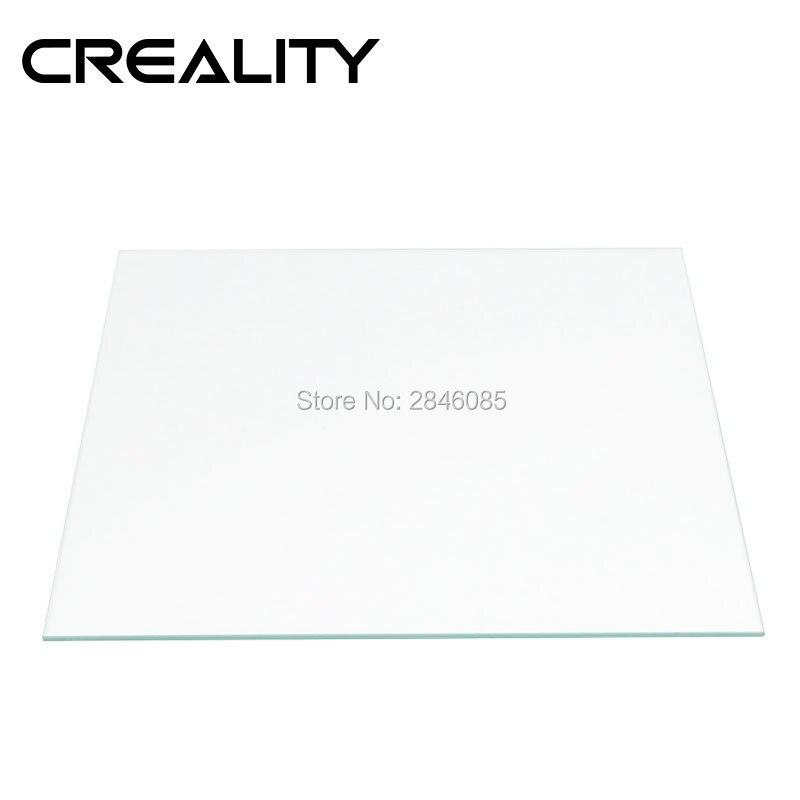 Plaque en verre borosilicaté transparente originale de lit chauffé par série de CR-10 de la créalité 3D taille 310/410/510*4mm trempé trempé