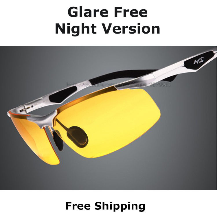 polarized eyeglasses 8lik  New AORON 2017 Sport Anti-Glare Goggles Eyeglasses Polarized Driving  Sunglasses Yellow Lens Night Vision