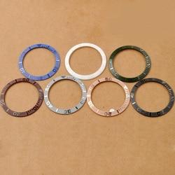 Części do zegarków  38mm Bezel nadające się do 40mm SUB zegarki automatyczne 7 kolory zegarek wkładka do DIY zegary duży Marka zegarek ramki w Narzędzia i zestawy do naprawy od Zegarki na