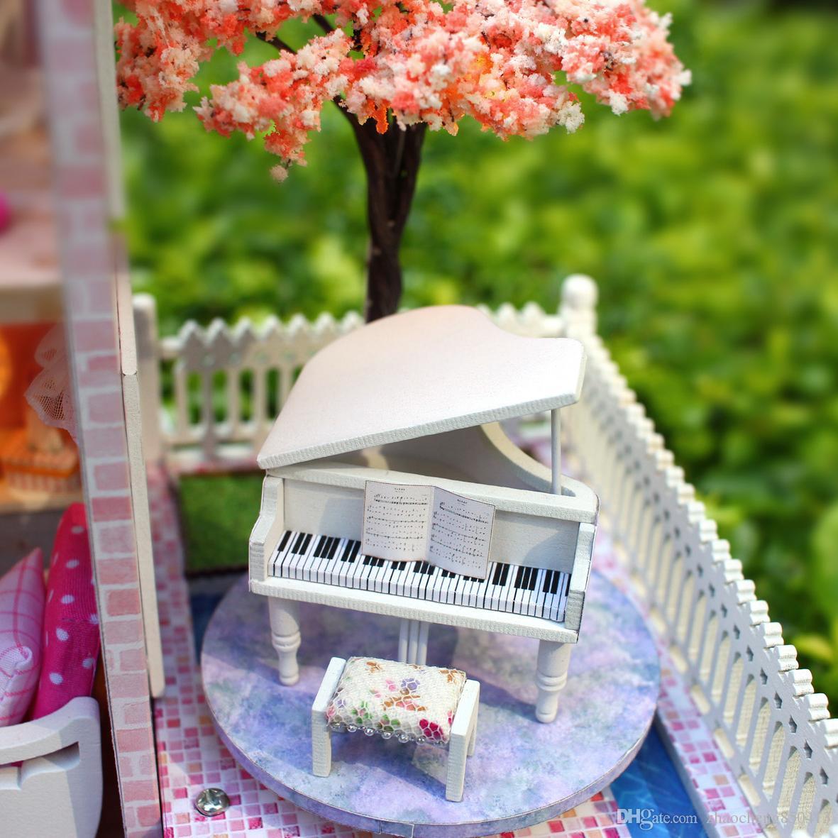 Сыйлықтар Жаңа бренд DIY Doll үйлері Wooden - Қуыршақтар мен керек-жарақтар - фото 4