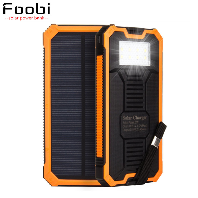 High Solar Panel Led Lamp Light Phone Power Bank Universal Phone Charger font b Battery b