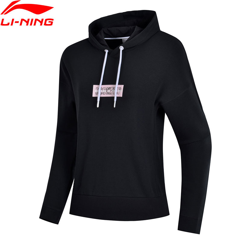 Li Ning Women The Trend Hoodies 70 9 Cotton 29 1 Polyester Loose Fit LiNing Sports
