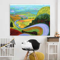 Embelish 1 Pieces Modern Landscape Pictures For Living Room David Hockney Garrowby Hill Canvas Painting Home Decor Wall Posters