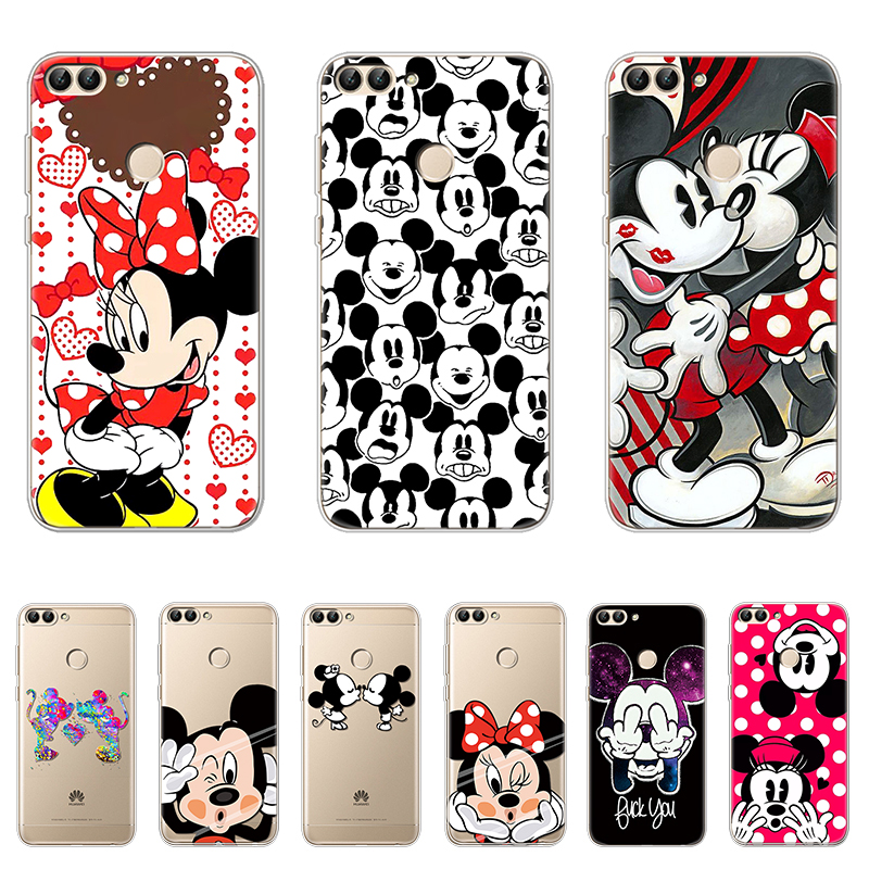 Cartoon Cute TPU Silicone Cases for Huawei P smart Case Cover Coque Protector for Huawei Enjoy 7S Phone Cases accessories Cover