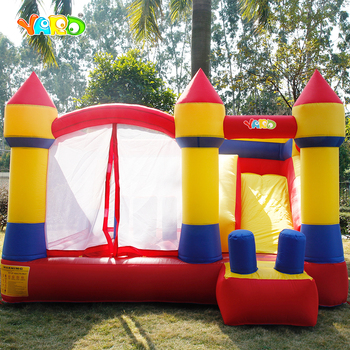 цена на YARD 4x3.8x2.5m Inflatable House Kids Bouncy Castle Games With Slide PVC Oxford Bouncy Castle With Blower Funny Trampoline