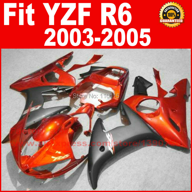 New motorcycle fairings kit for YAMAHA R6 2003 2004 2005 YZF R6 03 04 05  red golden fairing kits body repair part 7 gifts motorcycle abs fairings kits for 2003 2004 2005 yamaha yzfr6 blue black yzf r6 03 04 05 fairing kit body repair parts
