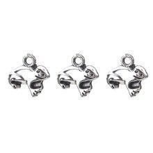 20 pc/lot 12*12mm alliage animaux charmes grenouille pendentif collier ras du cou Bracelet bijoux résultats accessoires Vintage charmes