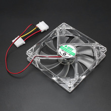 PC Computer Fan Quad 4 LED Light 120mm PC Computer Case 12V Cooling Fan Mod Quiet Molex Connector Easy Installed Fan Colorful a057 quiet pc case fan w led 4 color light transparent
