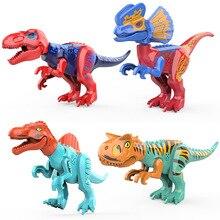 Jurassic World 2 Brutal Raptor Building Blocks Compatible Dinosaur Bricks Tyrannosaurus Indominus I-Rex Assemble Toys цена в Москве и Питере