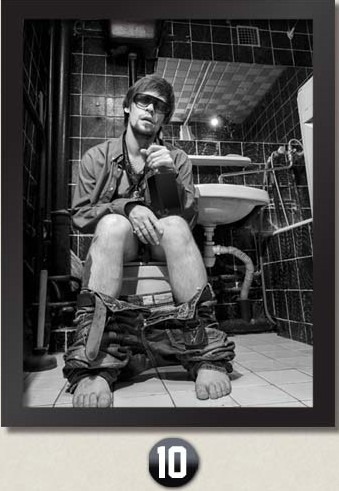 New Hot Toilet Cool Man plátno Dekor nástěnná malba Moderní nástěnná malba pro Bar Hotel Lavatory Coffee Domácí výzdoba NO Frame